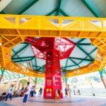 夏季期間の空中回廊式遊具・屋外遊具について
