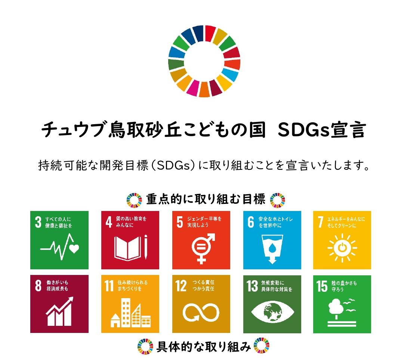 チュウブ 鳥取砂丘こどもの国 SDGs宣言